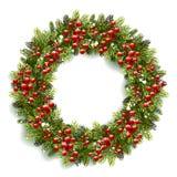 Guirlande de Noël avec les baies rouges Image stock
