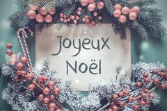 Guirlande de Noël, branche d'arbre de sapin, Joyeux Noel Means Merry Christmas image libre de droits