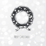 Guirlande de Noël décorée des étoiles Image stock