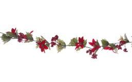 Guirlande de Noël d'isolement Image stock