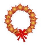 Guirlande de Noël des feuilles et des arcs oranges d'érable Photos stock