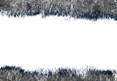 Guirlande de Noël sur un fond blanc photographie stock