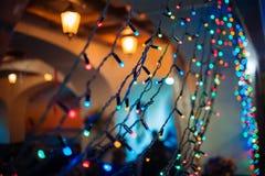 Guirlande de Noël, vacances Photographie stock