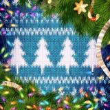 Guirlande de Noël sur le rouge ENV 10 Photo libre de droits