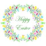Guirlande de Pâques avec le texte Photos stock