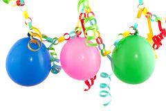 Guirlande de papel festivo con los globos Fotografía de archivo libre de regalías