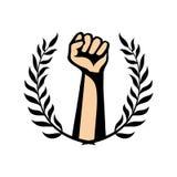 Guirlande de poing et de laurier illustration libre de droits