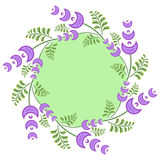 Guirlande de ressort avec les fleurs mauve-clair Image libre de droits