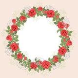 Guirlande de Rose Photo libre de droits