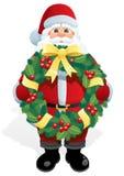 Guirlande de Santa illustration de vecteur