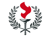 Guirlande de torche Image libre de droits