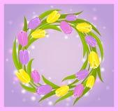 Guirlande de tulipes Images libres de droits