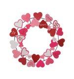 Guirlande de Valentines Images libres de droits