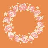 Guirlande de vecteur avec des fleurs Image stock