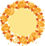 Guirlande de vecteur avec des fleurs Images libres de droits