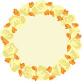 Guirlande de vecteur avec des fleurs Photographie stock