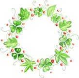 Guirlande de vert d'aquarelle Photo stock