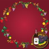 guirlande de vin Image stock