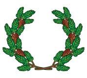Guirlande des branches de pin illustration stock