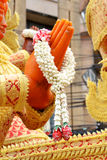 Guirlande des fleurs fraîches (Phoung Malai : La Thaïlande fabriquée à la main) Image stock