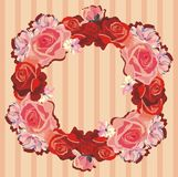Guirlande des roses Images stock