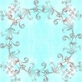 Guirlande des roses - composition décorative sur un fond d'aquarelle Photographie stock libre de droits