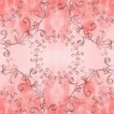 Guirlande des roses - composition décorative sur un fond d'aquarelle Configuration sans joint Images libres de droits