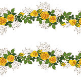 Guirlande des roses jaunes Photographie stock