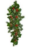 Guirlande droite de Noël d'isolement. Image libre de droits