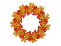 Guirlande du rendu des feuilles d'automne 3d Photos stock