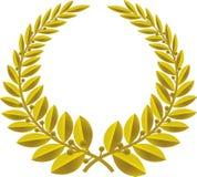 guirlande en bronze de vecteur de laurier illustration stock