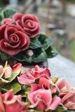 Guirlande en céramique française traditionnelle d'enterrement Photos stock
