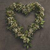 Guirlande en forme de coeur Image stock