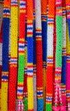 Guirlande en plastique thaïe colorée Image libre de droits