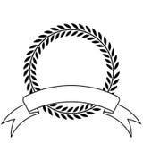 Guirlande et bande de laurier illustration libre de droits