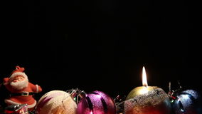 Guirlande et bougies banque de vidéos