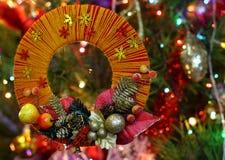 Guirlande fabriquée à la main de Noël de métier Images stock