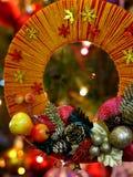Guirlande fabriquée à la main de Noël de métier Photos libres de droits