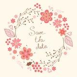 Guirlande florale élégante illustration de vecteur