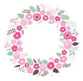 Guirlande florale Images libres de droits