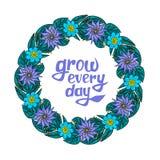Guirlande florale avec le texte illustration stock