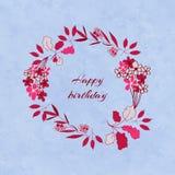 Guirlande florale d'anniversaire Image stock