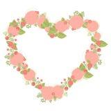 Guirlande florale de forme de coeur faite d'asters Image libre de droits