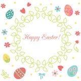 Guirlande florale de Pâques Photos libres de droits