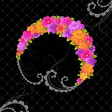 Guirlande florale mignonne. Images stock