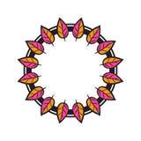 Guirlande florale tribale Illustration de Vecteur