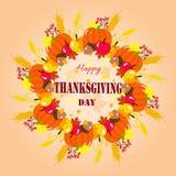 Guirlande heureuse de thanksgiving Image libre de droits