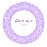 Guirlande lilas de fleur Images libres de droits