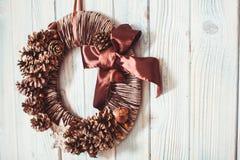 Guirlande naturelle de Noël d'eco Image libre de droits