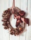 Guirlande naturelle de Noël d'eco Photo stock